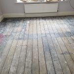 Old pitch pine floorboards