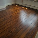 Teak stain and 3 coats of clear sati lacquer