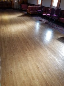 Cradley Sports and Social club dance floor BEFORE